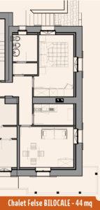 Appartamento Chalet Felse 44mq