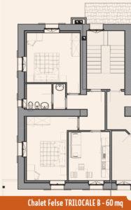 Appartamento Chalet Felse B 60mq
