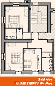 Appartamento Chalet Felse Trilocale A 70mq