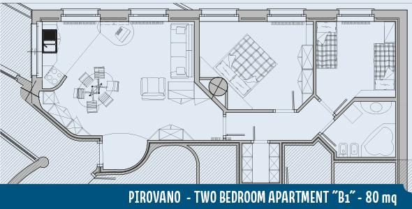 Apartment Pirovano B1 80mq