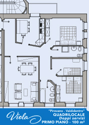 Layout Appartamento Viola Valdidentro